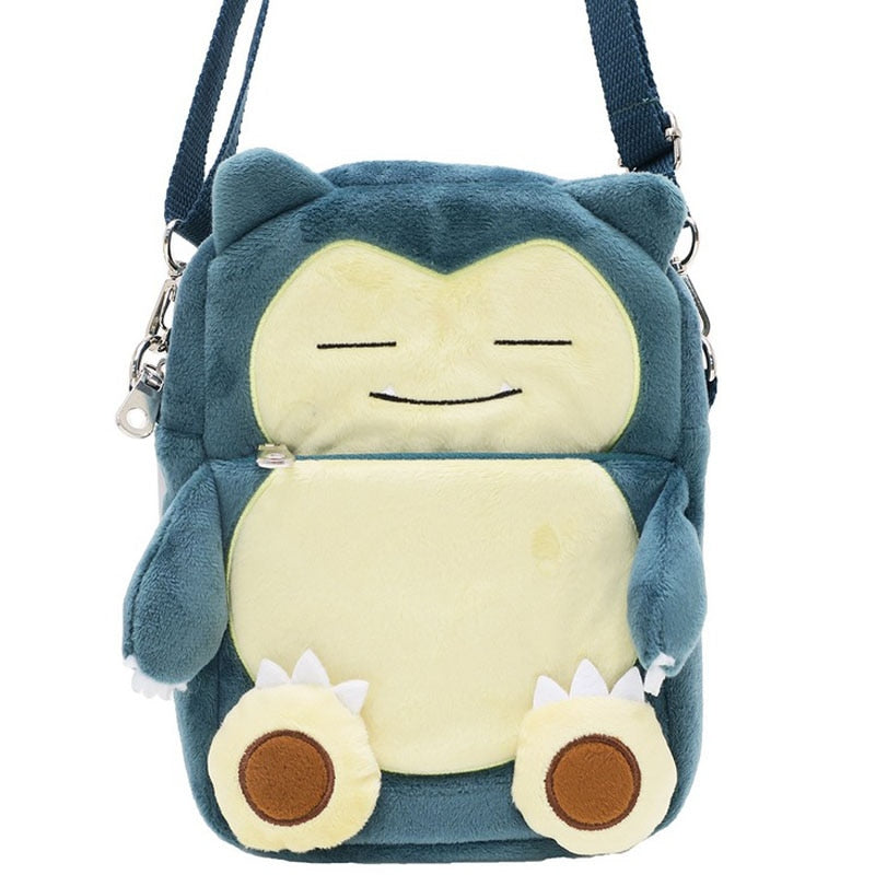 Cute Pokemon Snorlax Embroidery Corduroy Purse Shoulder Bag