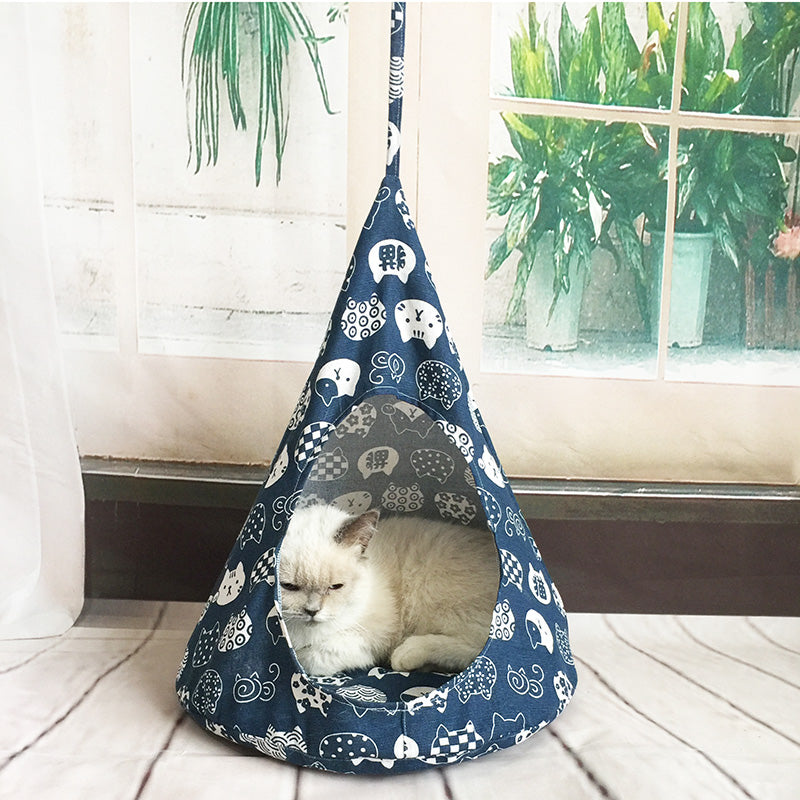 Cute Cat Hammock Cosy Cat House
