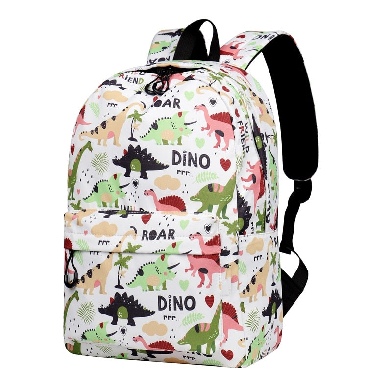 Cartoon Dinosaur Water Resistant School Bags for Girls Backpack