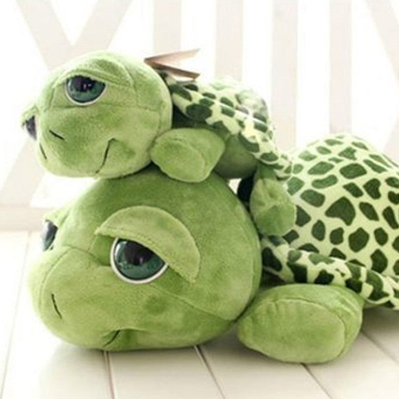 20cm Army Green Big Eyes Turtle Plush Toy Turtle Doll Turtle Kids