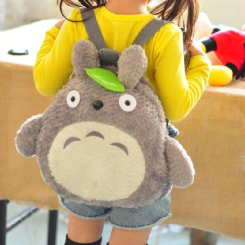Cute Anime Totoro Plush Stuffed Backpack For Kids