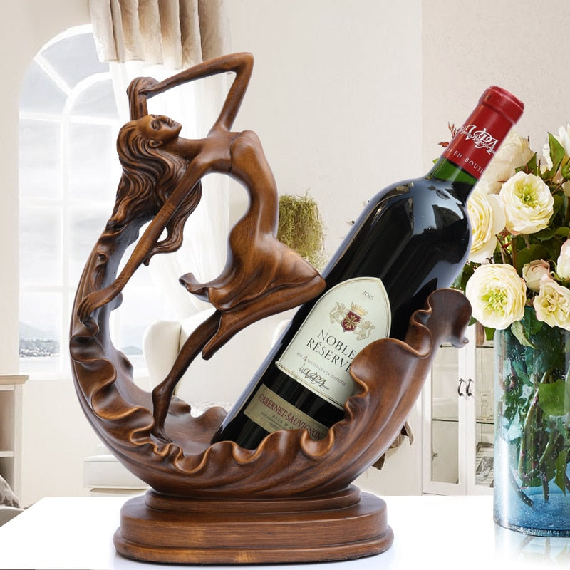 Antlers Creative Resin Crafts Wine Holder Frame Cattle Porcelain Figurines