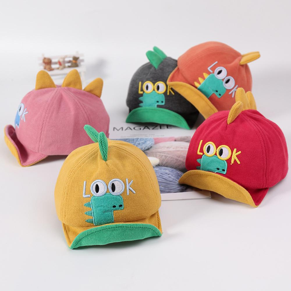 Cartoon LOOK Dinosaur Baby Baseball Cap Hat for Kids