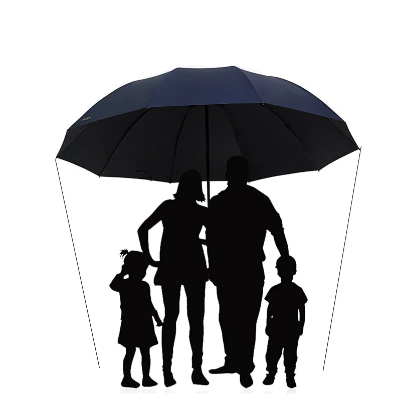 152CM Large Golf Umbrella Rain Women Windproof Large Folding Umbrella