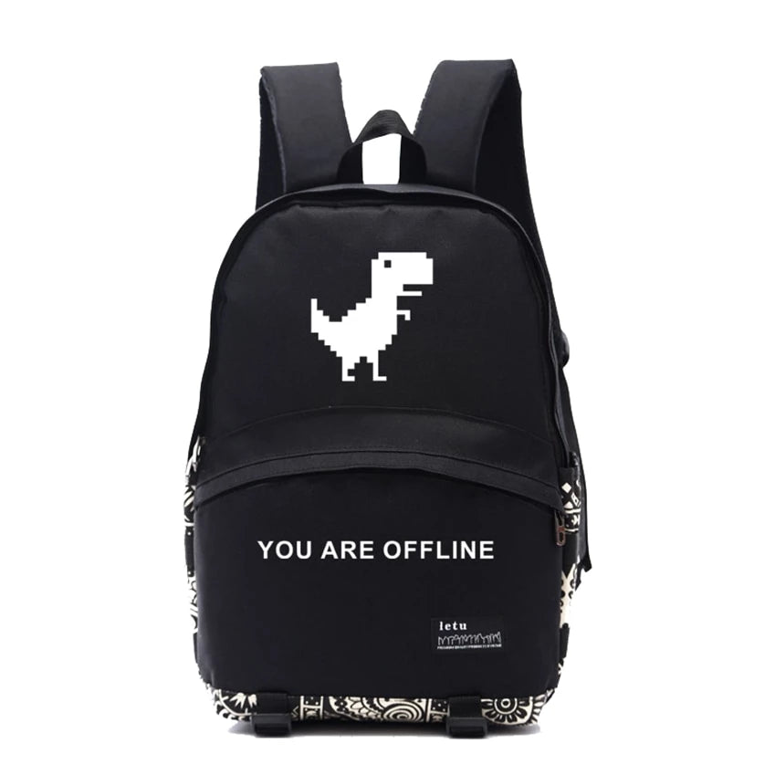 Dinosaur You Are Offline Geek Backpack