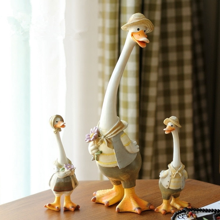 Cute Duck Resin Crafts Children's Room Home Decoration