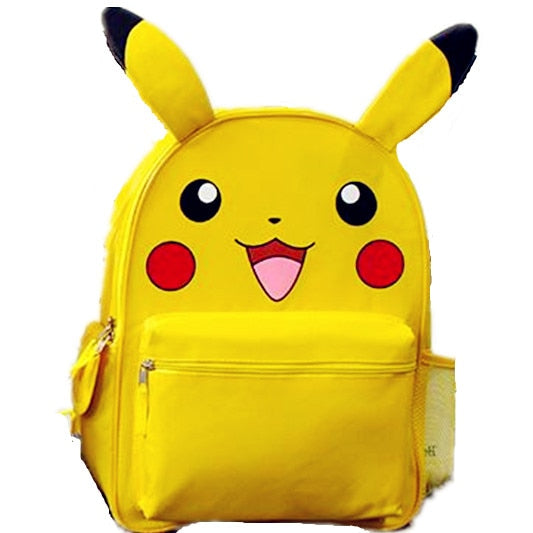 Yellow Pokemon Pikachu School Backpack with Ears