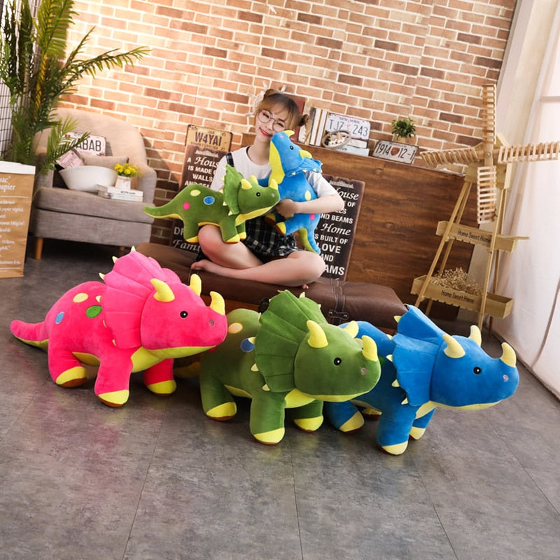 Cute Triceratops Dinosaur Plush Stuffed Doll Pillow Toy