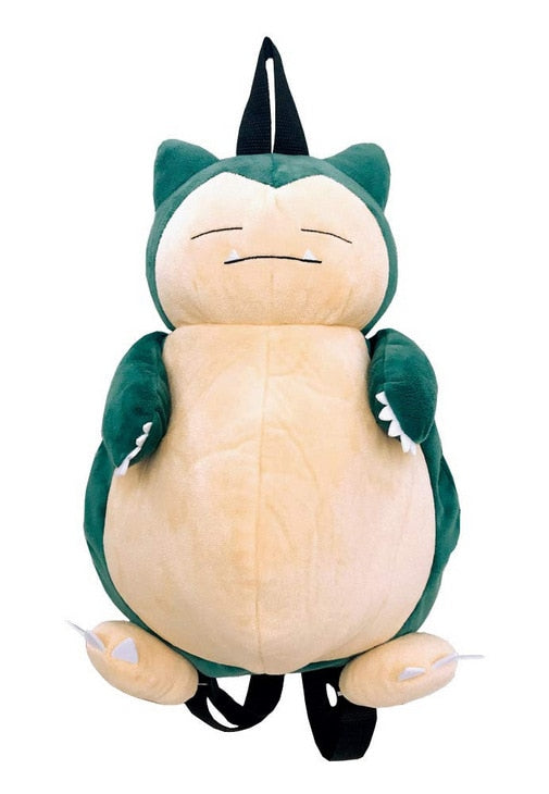 Cartoon Snorlax Pokemon Plush Backpack Shoulder Bag
