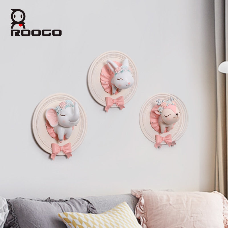 Cute Animal 3D Air Ballet Wall Hanging Bowls Home Decoration