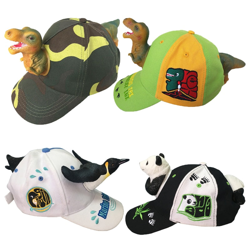 3D Cartoon Animal Photography Props Hat Cap for Kids