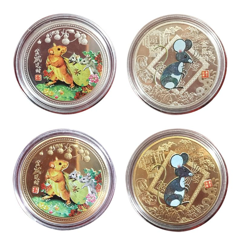 Year of the Rat Lucky Coin Chinese Zodiac
