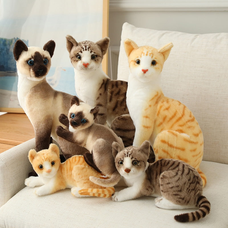 Lovely Simulation Cat Plush Stuffed Doll Gift Home Decor