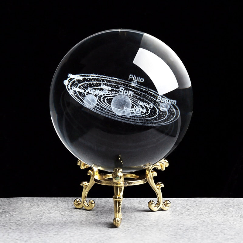 Solar System 3D Planets Model Sphere Crystal Ball Desk Decoration