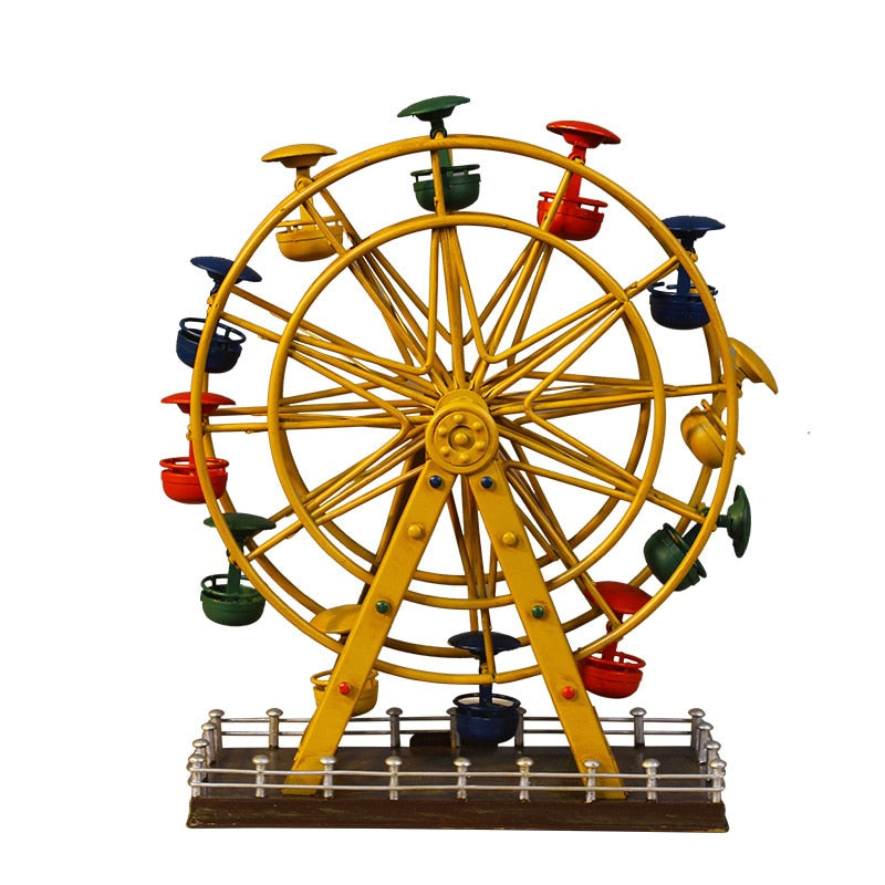 Vintage Ferris Wheel Iron Miniatures Home Decoration Gift