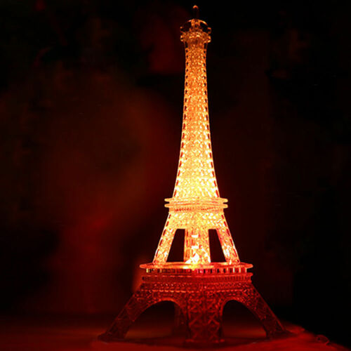 Romantic Eiffel Tower Color Changing LED Night Light Home Decoration