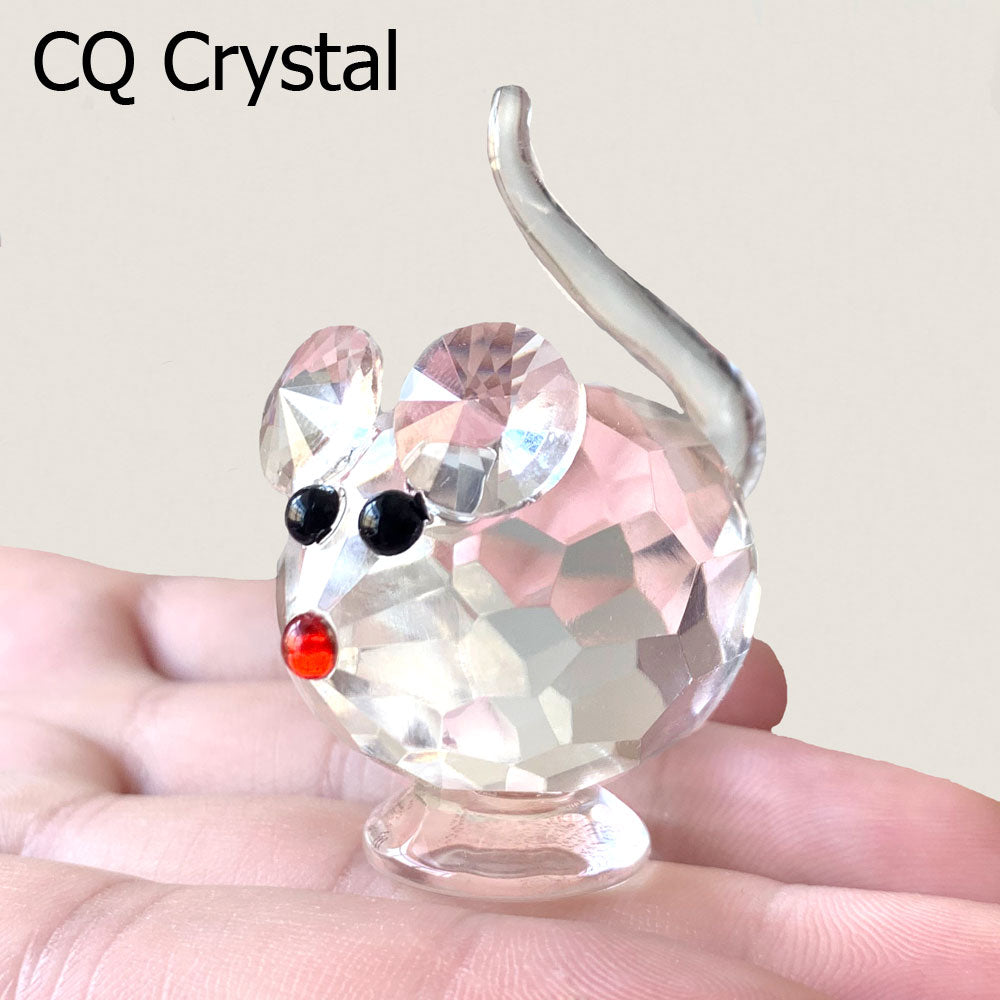 Cute Crystal Mouse Figurines Ornament Decoration