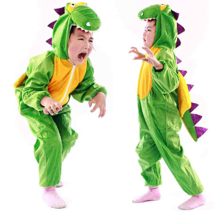 Green Dinosaur Monster Costume Cosplay Clothing for Kids