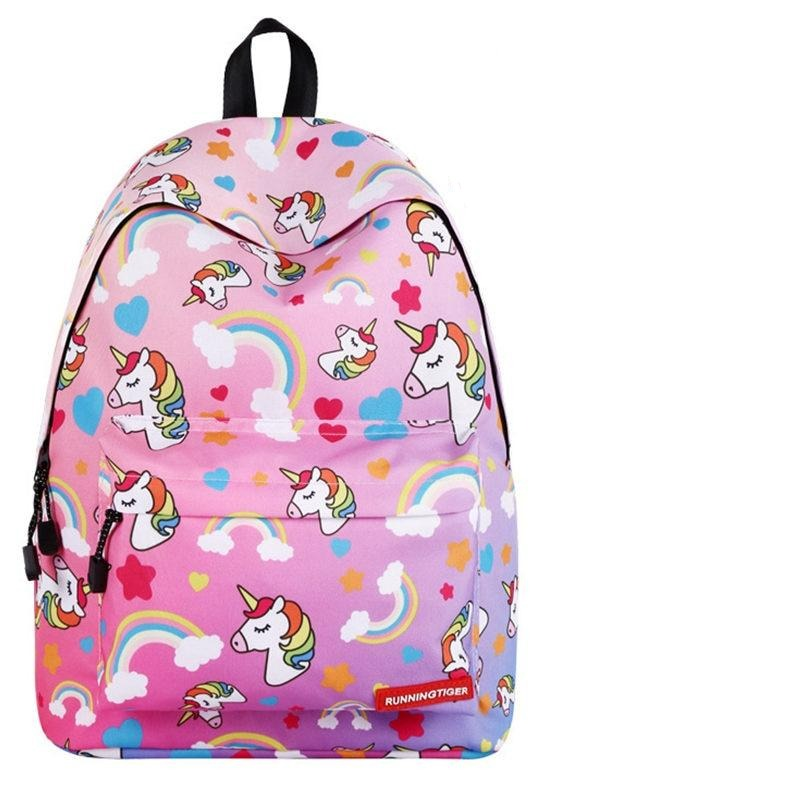 3 Pcs/Set Unicorn Backpack School Bag Pencil Case Flash Drive