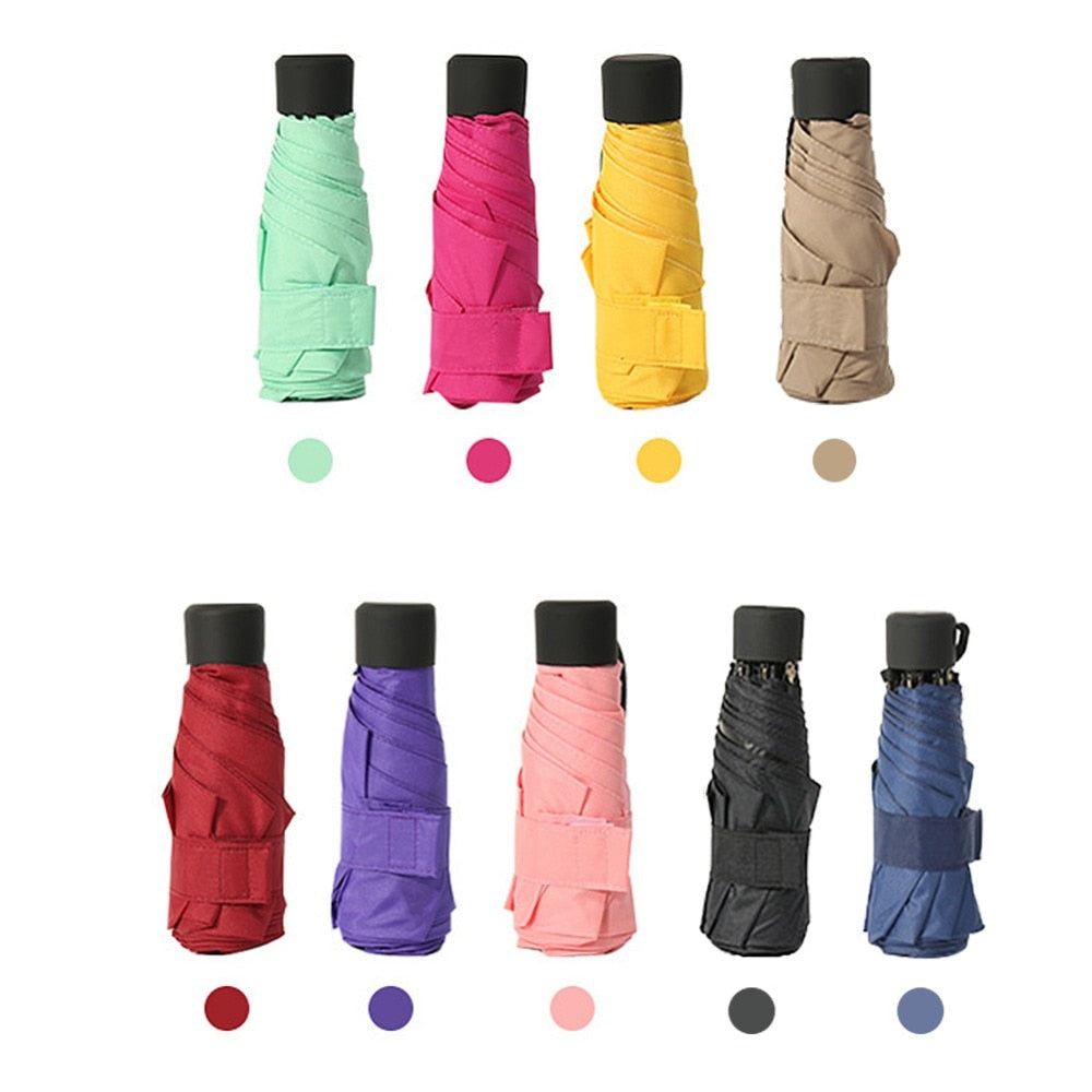 18 colors Umbrella Women UV Small UmbrellaAnti UV Waterproof Portable