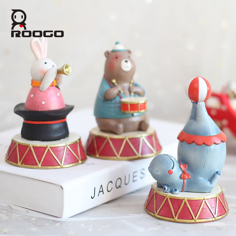 Circus Clown Elephant Bunny Dolphin Animals Home Decoration