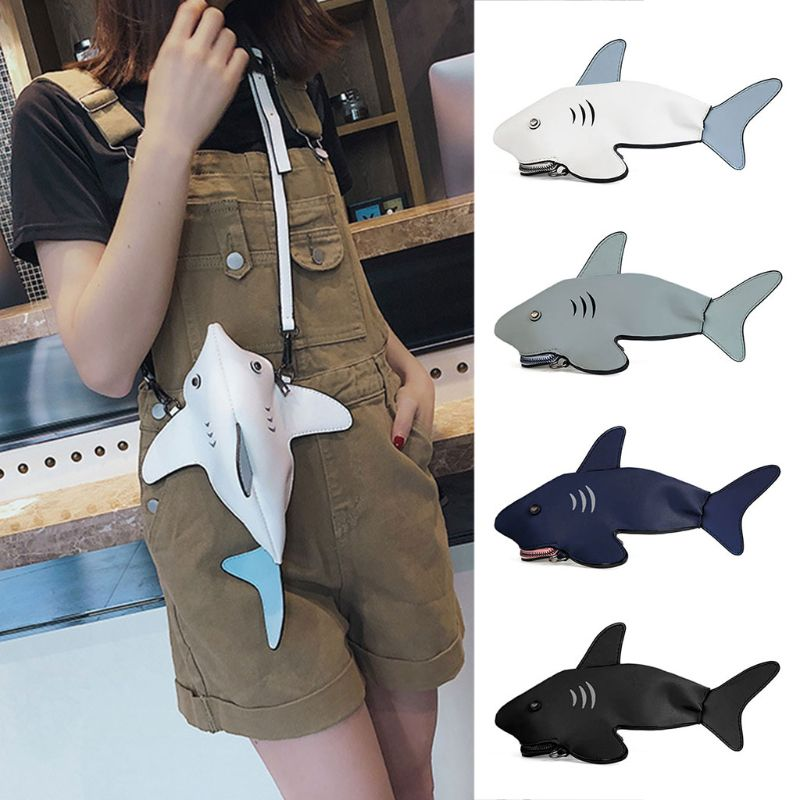 Shark Crossbody Bag Clutch Purses Shoulder Bag