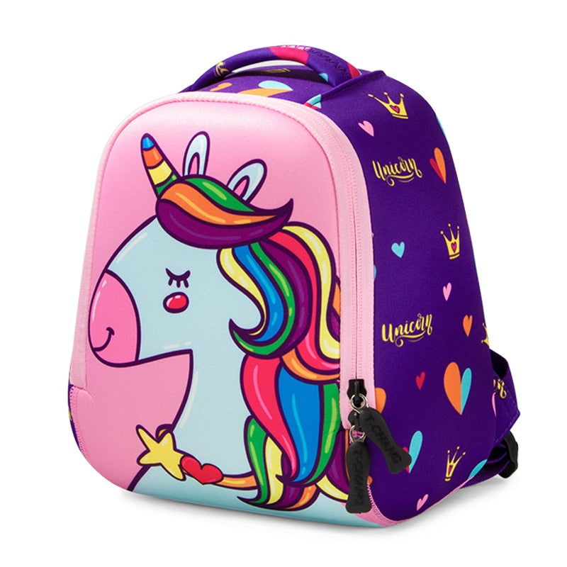 Cute Unicorn Dinosaur Kids Waterproof School Bags for Kids