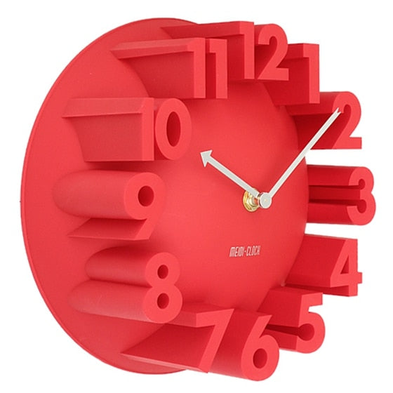 3D Numbers Large Modern Round Wall Clock Home Decor