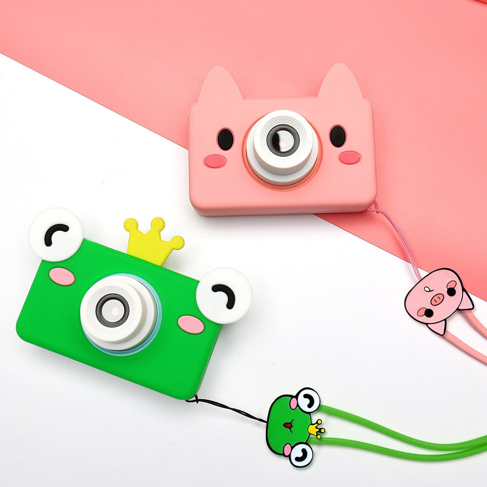 Cute Cartoon Digital Camera 32GB Memory Card Included Toy Gift for Kids