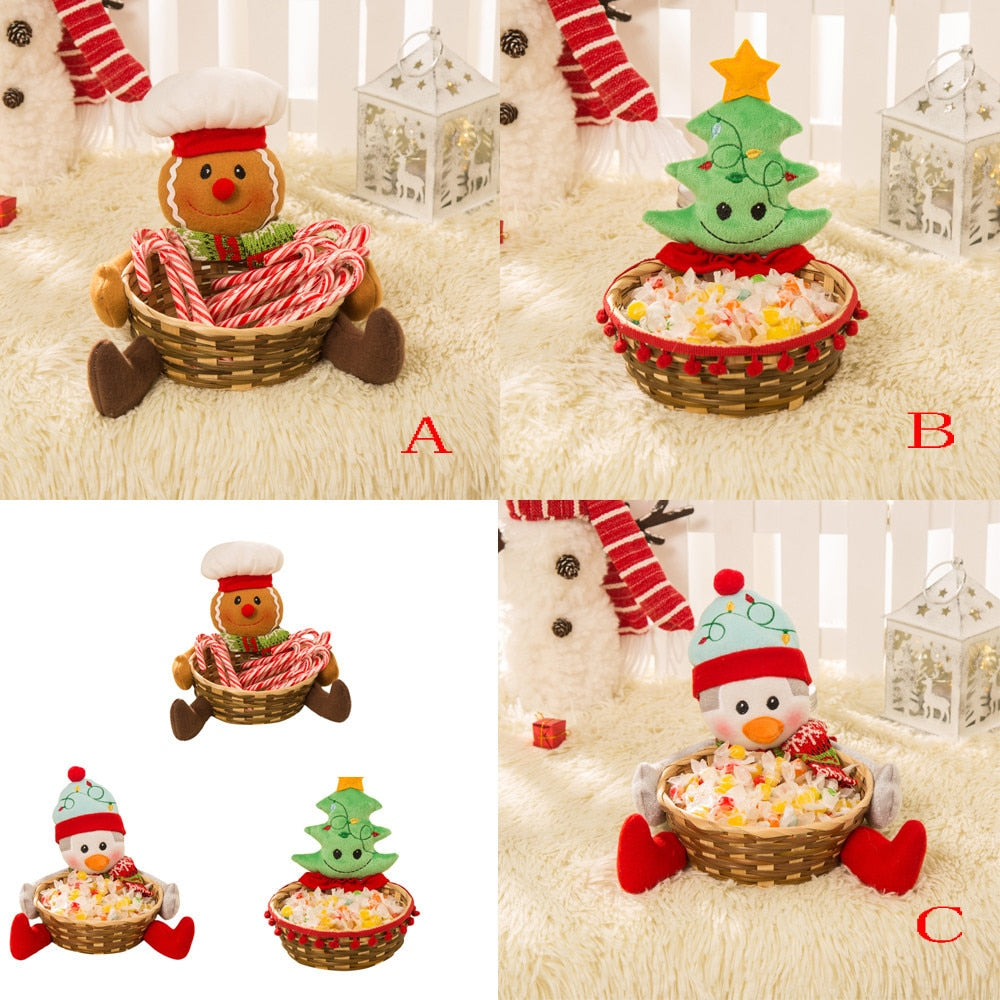 Christmas Candy Storage Basket Party Decoration
