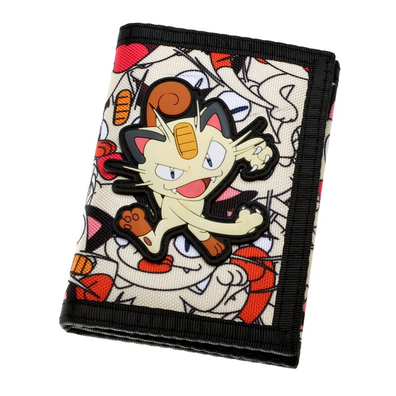 Meowth Pokemon Trifold Nylon Purse Wallet