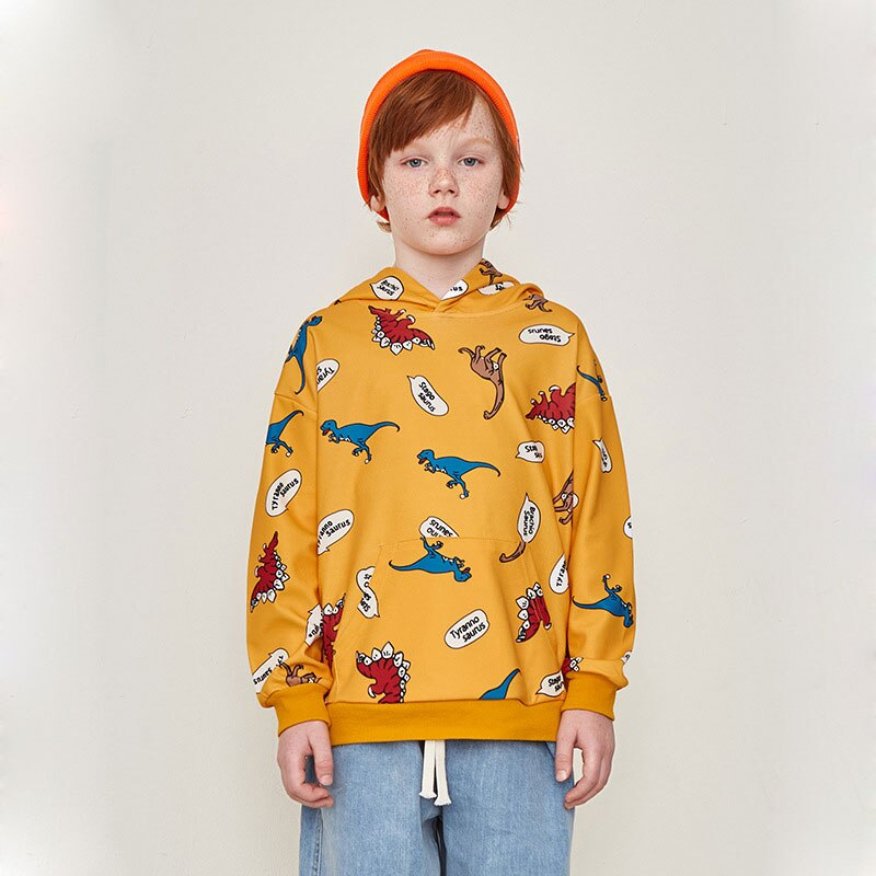 Cartoon Dinosaur Tyrannosaurus Stegosaurus Children's Hoodies Sweatshirt