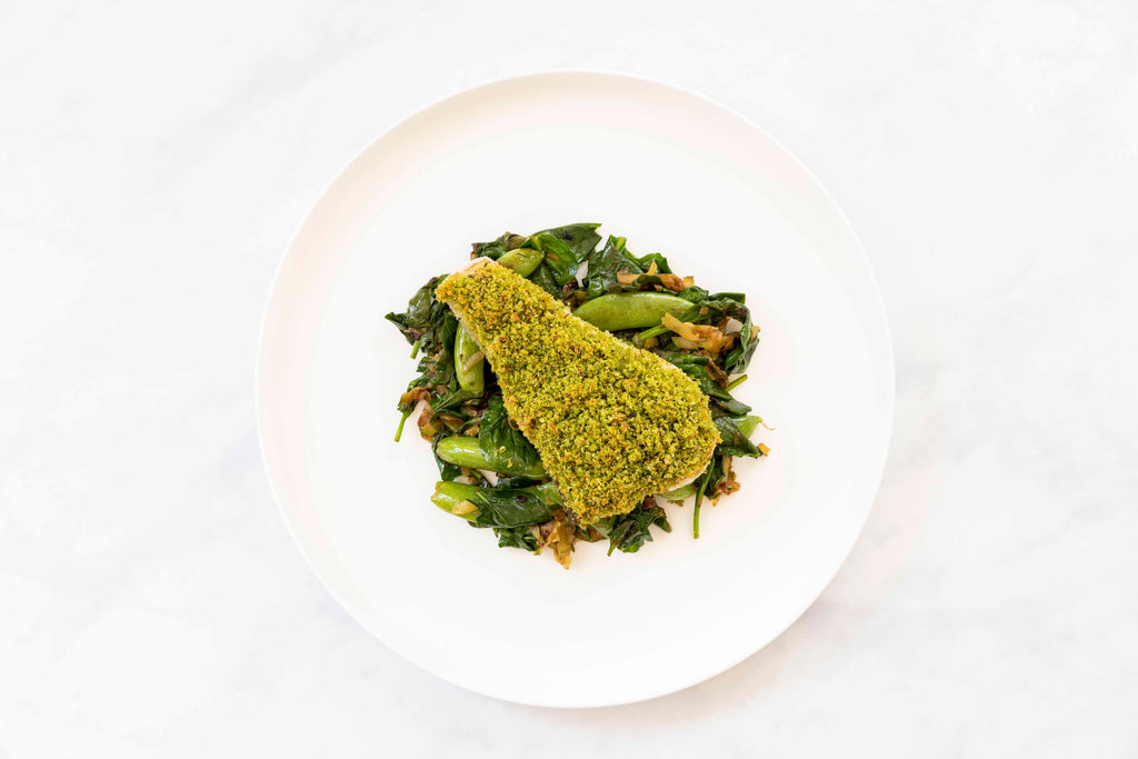 Cecconi's Herb Crusted Swordfish