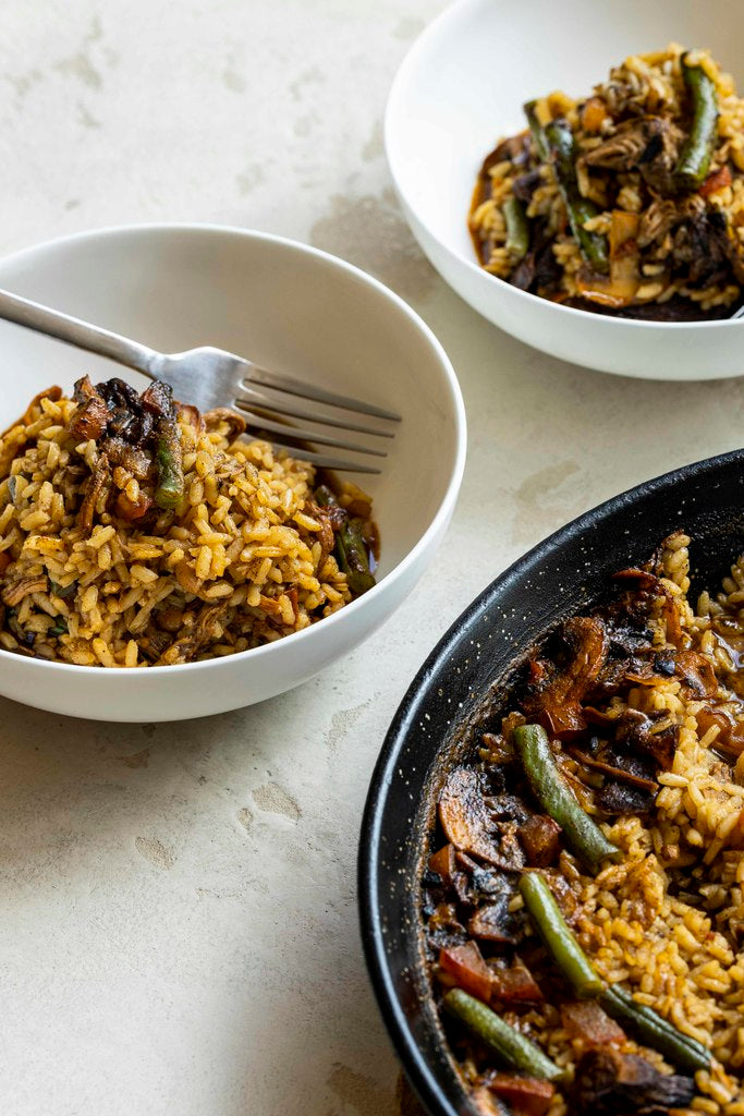 Simply Spanish's Pulled Pork Paella (nf)