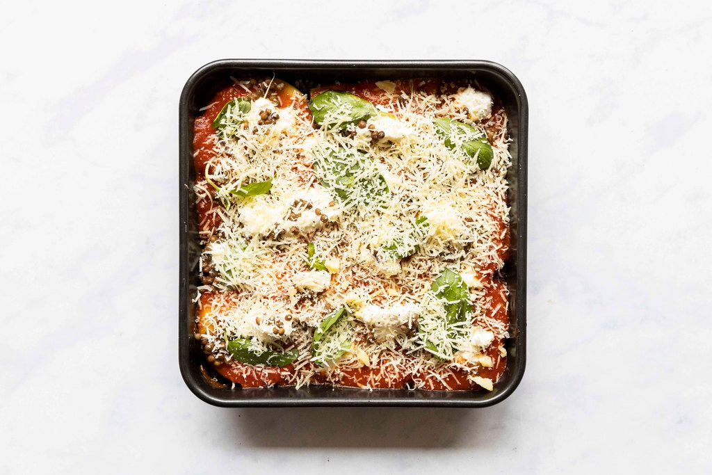 Lello Pasta Bar's Cheesy Baked Eggplant with Basil Sugo (vg, nf)