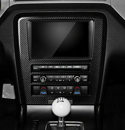 2010-2014 Mustang Carbon Fiber Navigation Multimedia Dash Trim
