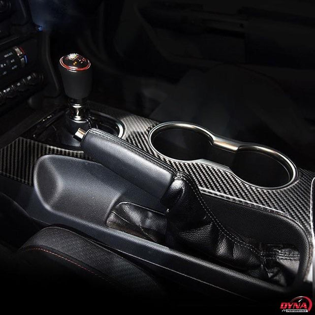 2015-2020 Mustang Carbon Fiber Center Console Overlay
