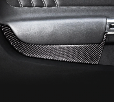 2015-2020 Mustang Carbon Door Panel Overlay