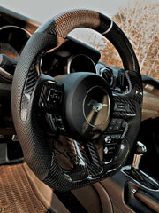 2018-2020 Mustang Carbon Fiber Steering Wheel