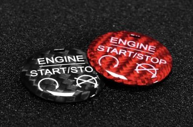 2015-2020 Mustang Carbon Engine Start/Stop Button Overlay