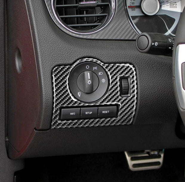2010-2014 Mustang Carbon Fiber Headlight Control Trim