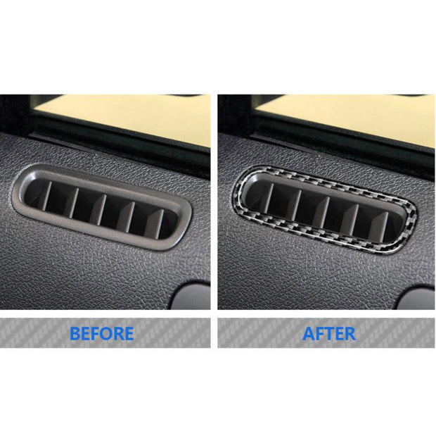 2010-2014 Mustang Carbon Fiber Door Vent Trim