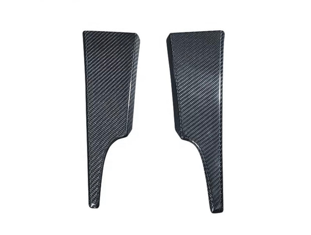 15+ Mustang Dash Side Solid Carbon Trim Overlay