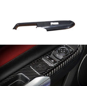 15+ Mustang Window Switch Solid Carbon Trim Overlay
