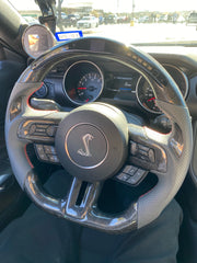 2015-2020 Mustang Carbon Steering Wheel Trim Replacement