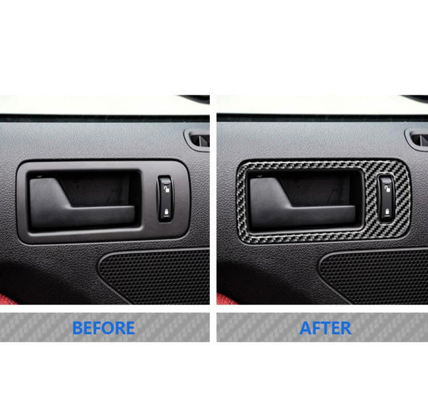 2010-2014 Mustang Carbon Fiber Door Handle Trim
