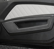 2010-2014 Mustang Carbon Fiber  Front Door Panel Trim Overlay