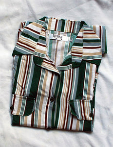 Camisa larga - marrón con verde