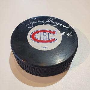 Jean Beliveau Guaranteed Authentic Autographed Hockey Puck