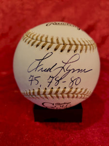 Fred Lynn Certified Authentic Autographed Baseball